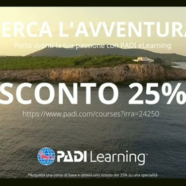 PADI eLearning deal from the 20th till the 30th November 2020